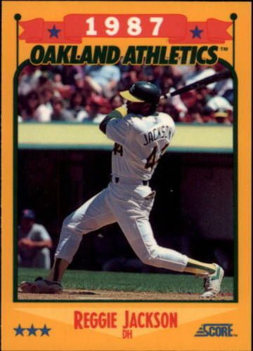 Reggie Jackson 1988 Score 504 Oakland Athletics Athletics