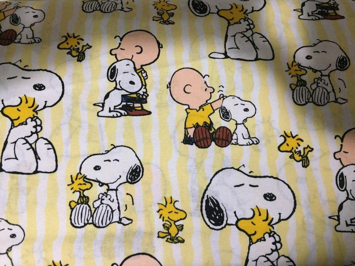 Snoopy cotton fabric by the yard snoopy yards and fabrics