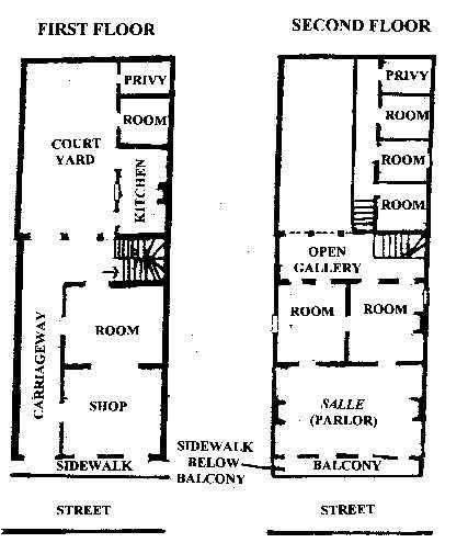 Creole Townhouse Floorplan American Vernacular