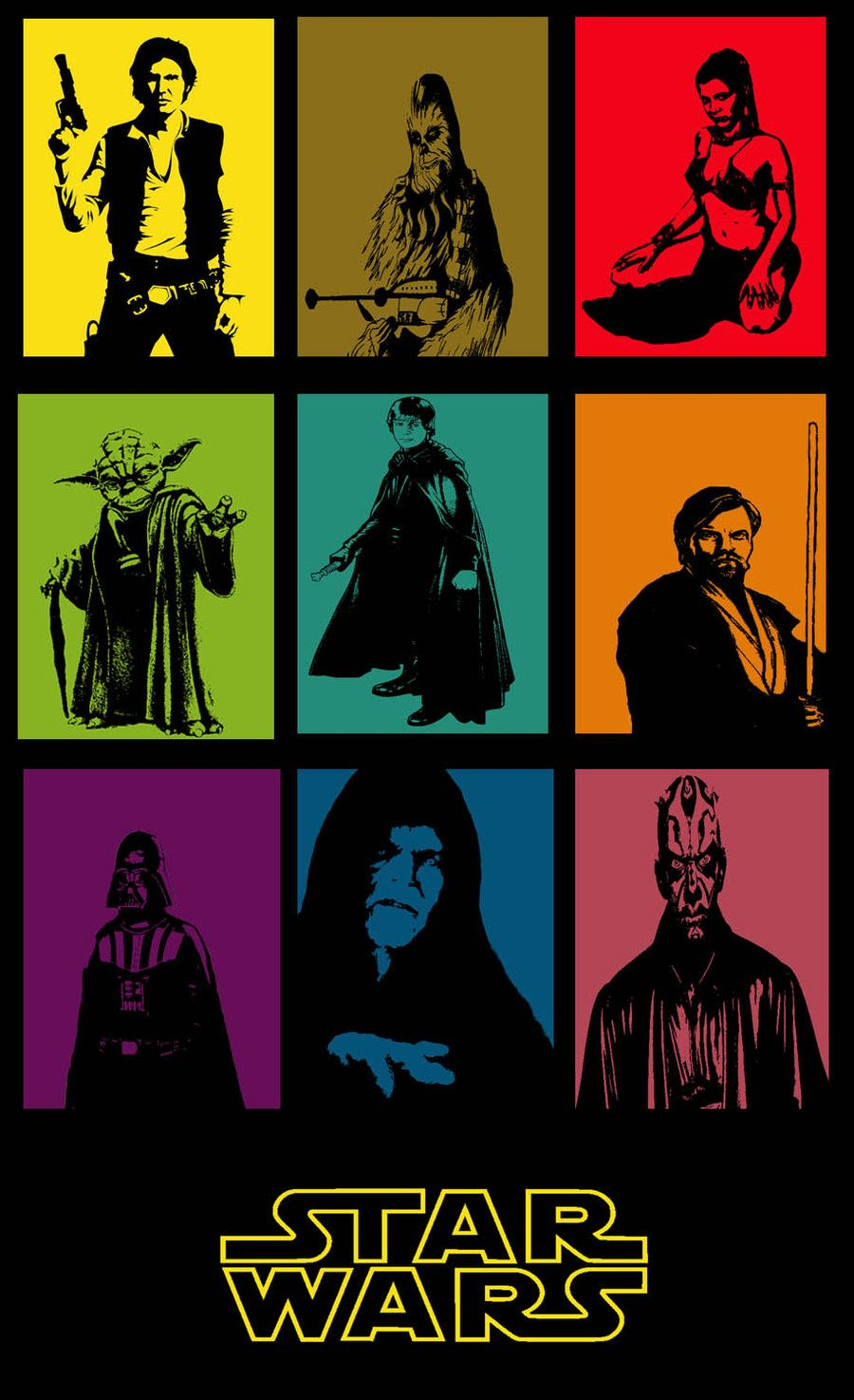 star wars popart poster it pinterest star starwars and star wars stuff. Black Bedroom Furniture Sets. Home Design Ideas