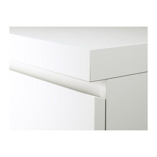 Malm Escritorio Blanco 140x65 Cm Ikea Black Desk Malm Ikea
