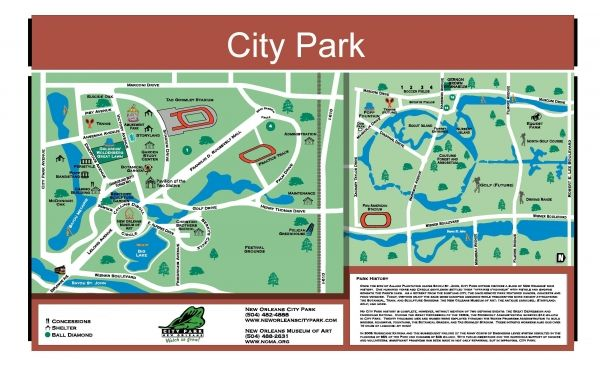 City Park New Orleans Map City Park Map | New Orleans City Park | Pack n Go | New orleans