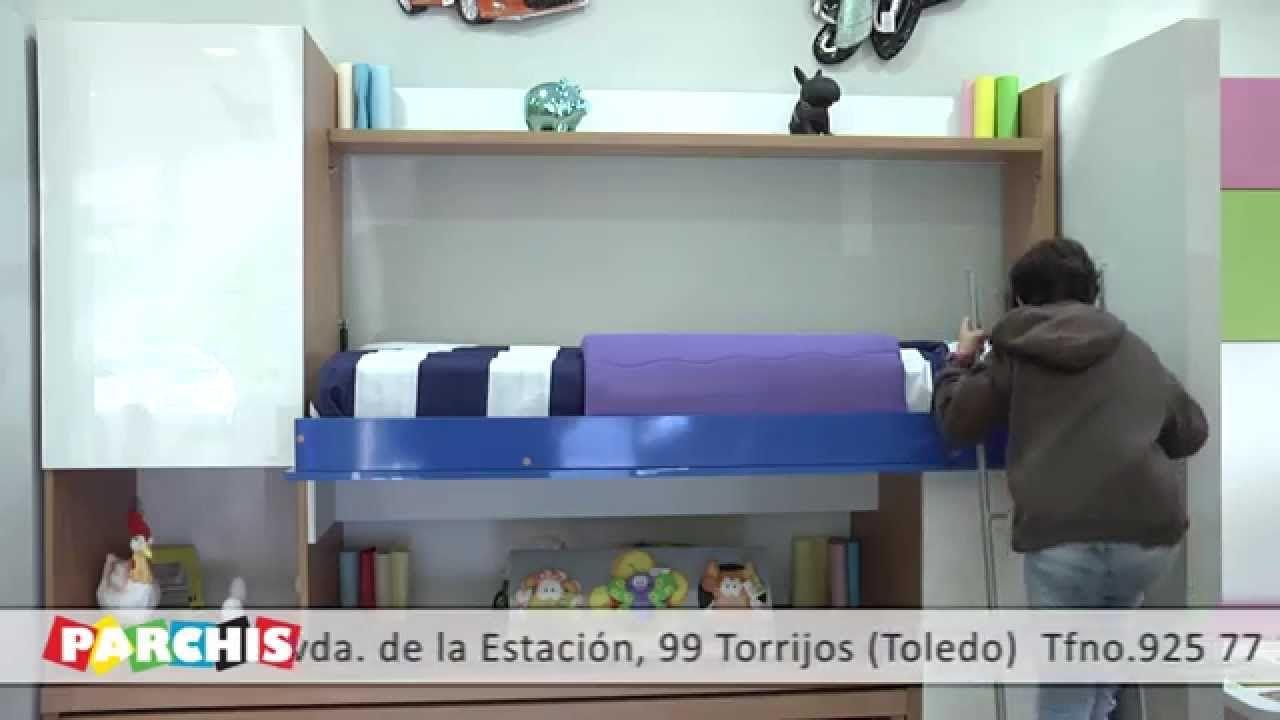 Muebles Parchis Como Funcionan Literas Juveniles Abatibles Con  # Muebles Literas Infantiles
