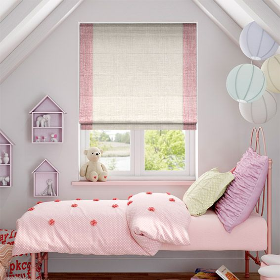 freya purity pink roman blind from blinds 2go - Blinds For Baby Room