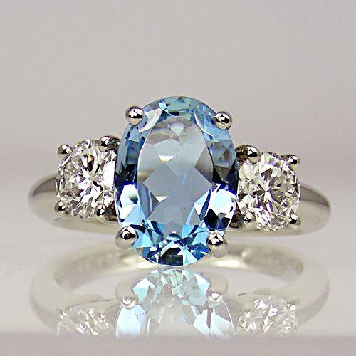 Beautiful Aquamarine Ring Gioie Anelli Pinterest