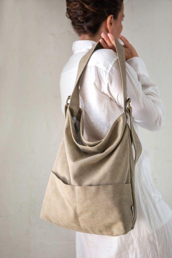 Vegan Womens Canvas Hobo Handbags Shoulder Bag Tote Bag