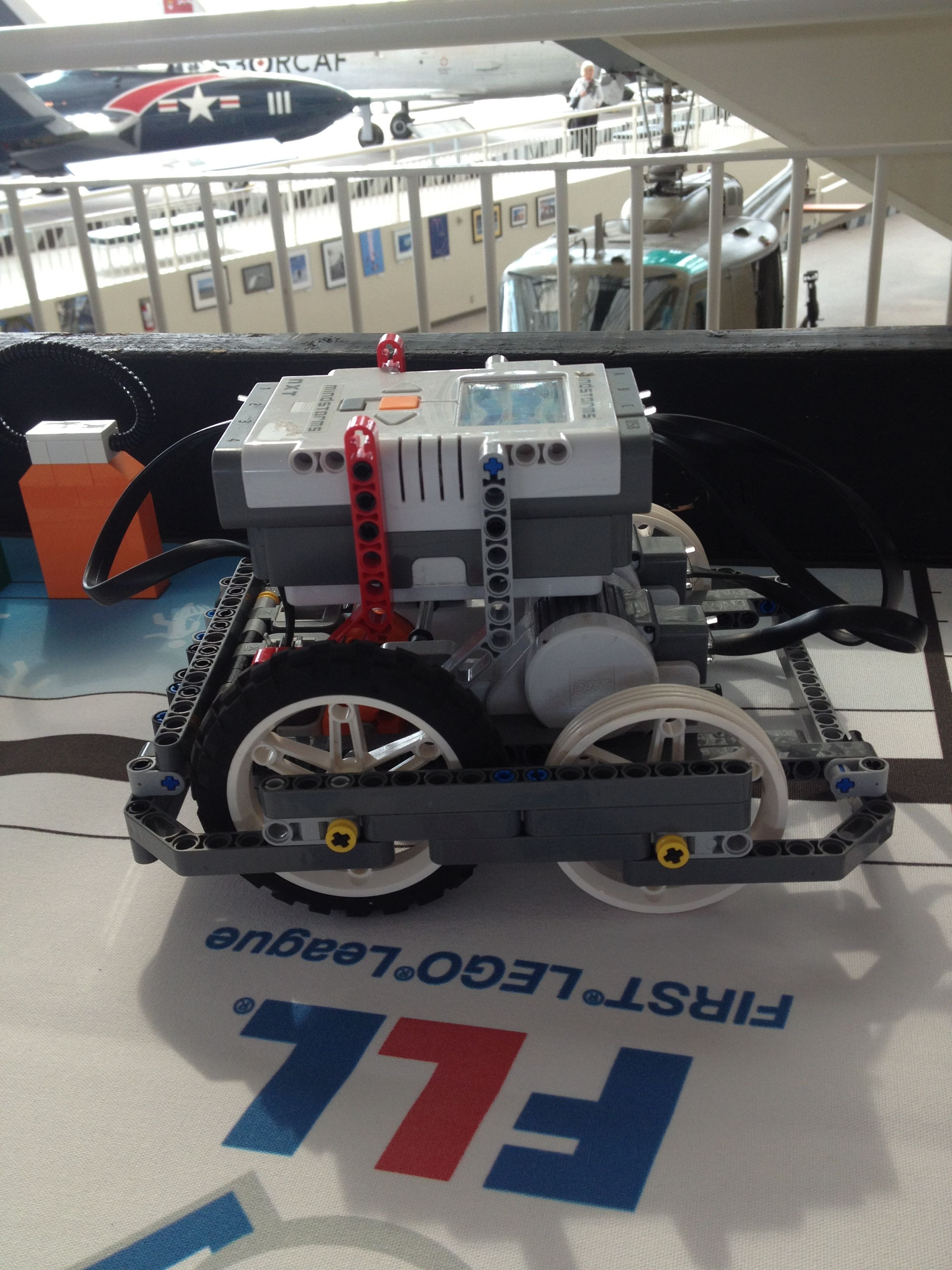 A robot at the September 2012 FLL Kickoff in Seattle, WA.