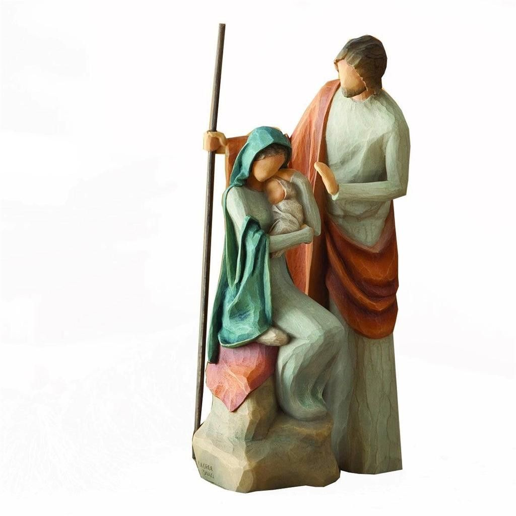 """Demdaco Willow Tree 7.5/"""" Christmas Holy Family Collection Nativity Child Born"""