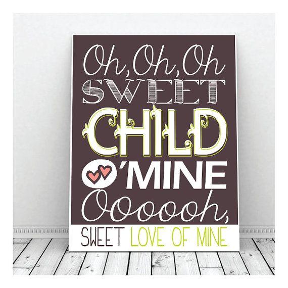 Sweet Child O' Mine Guns N' Roses Nursery by ...
