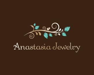 Anastasia jewelry branch Logo design This elegant logo is