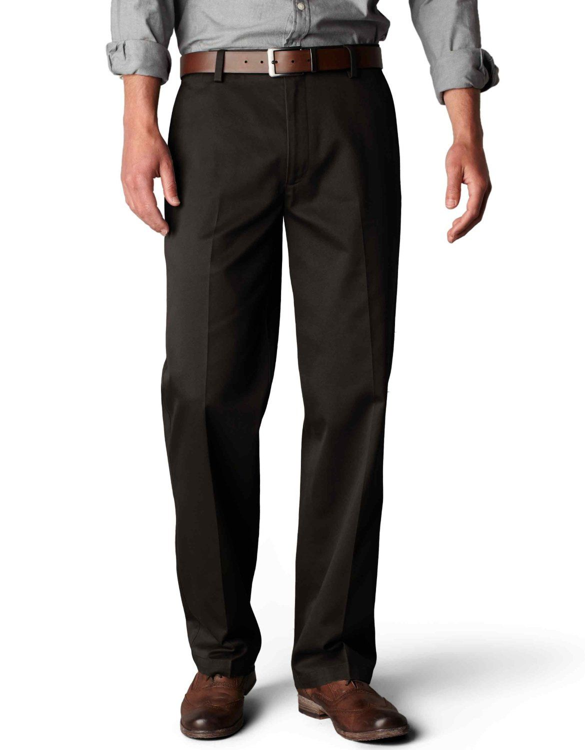 e0e47cf42e5d3f Amazon.com: Dockers Men's Signature Khaki D2 Straight Fit Flat Front Pant:  Clothing $22