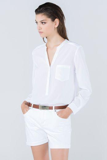 Camisa Mao Bolsillo Camisas De Vestir Mujer Moda Ropa