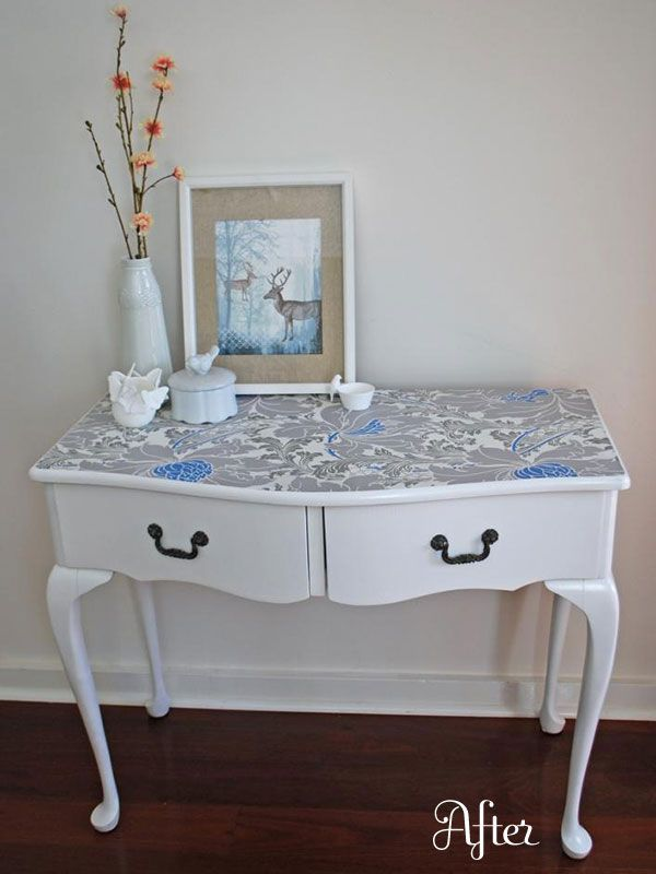 25 Amazing DIY Furniture Makeovers With Wallpaper Commodes