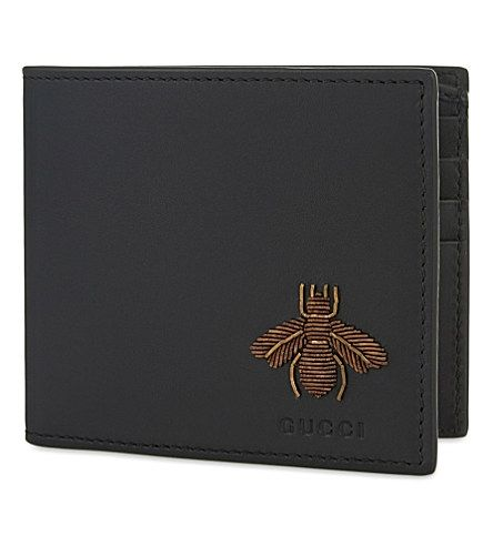 ce10aeb728d448 GUCCI Embroidered Bee Billfold Wallet. #gucci #bags #leather #wallet  #accessories #