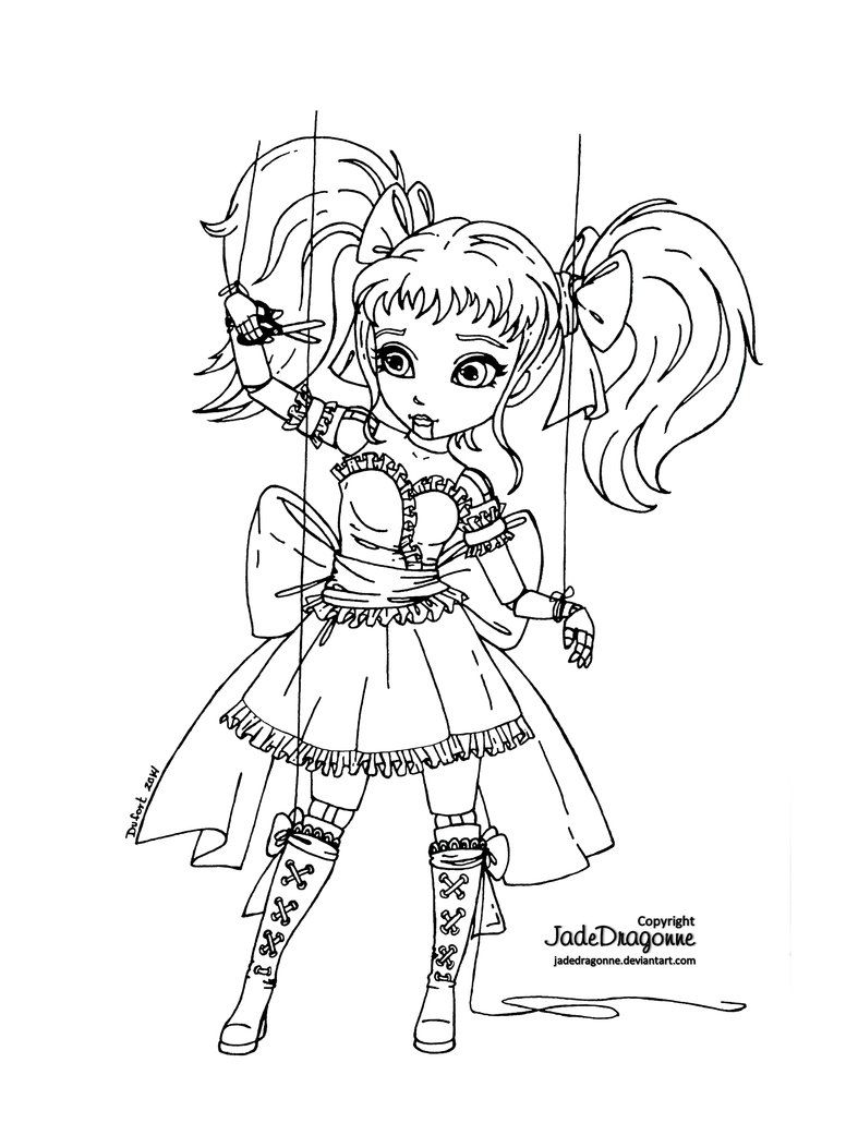 No string attached - Lineart by JadeDragonne on DeviantArt