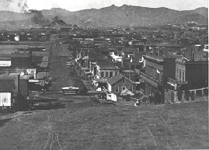 Looking Westward On Harrison From Top Of 2nd St On Rincon Hill C 1865 Happy Valley Dolores Park San Francisco