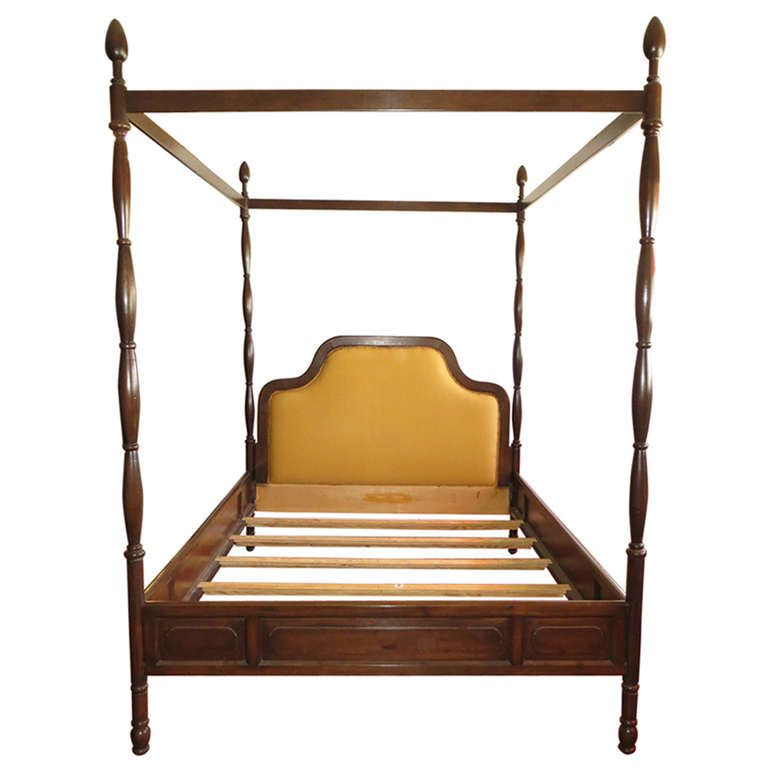 Queen size 1960\'s 4 poster bed frame | INTERIOR DESIGNS | Pinterest ...