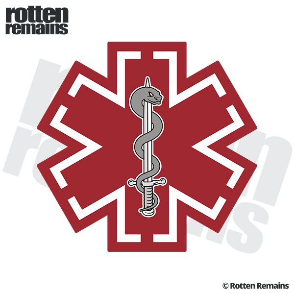 Tactical Medic Red Police SWAT Fire EMS Vinyl Sticker Decal