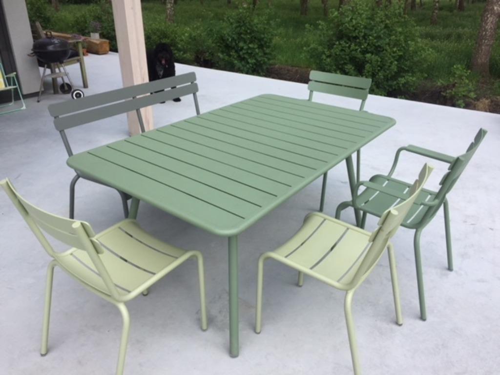 Fermob Luxembourg Set Te Koop Van 2 307 Voor 1 750 Tuinmeubelen Marktplaats Nl Mobilier Jardin Mobilier Palissade Jardin