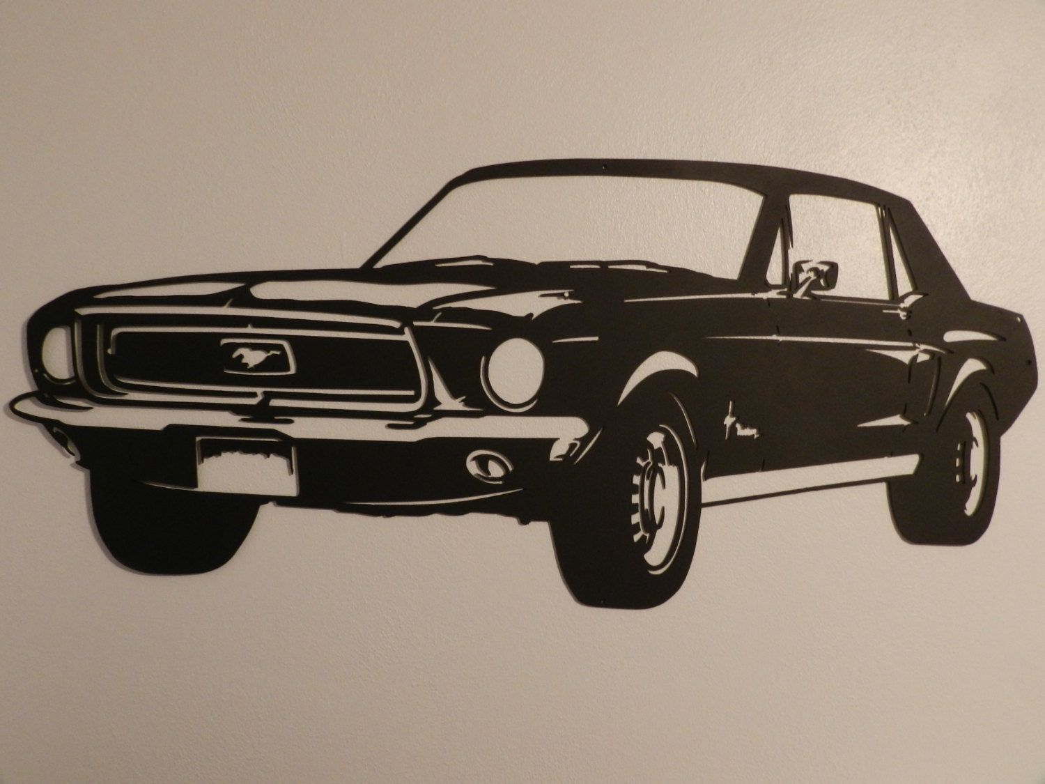 Vintage Ford Mustang Metal Wall Art by SunsetMetalworks on ...
