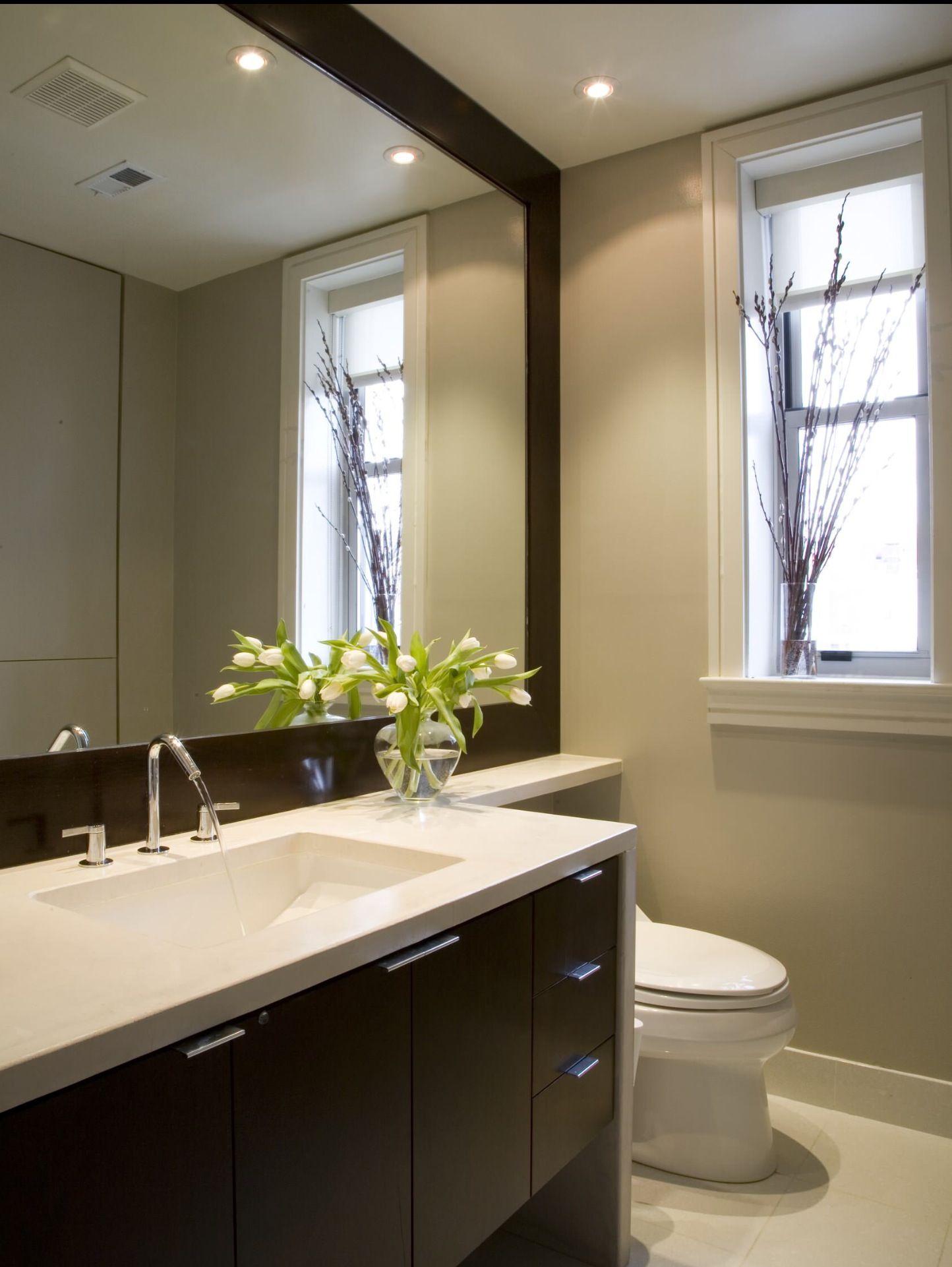 1/2 bath | Bathroom mirror design, Modern bathroom design ...