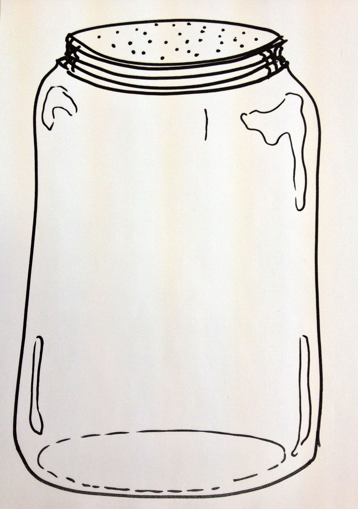 Draw Some Little Jars On Paper For Each Child And