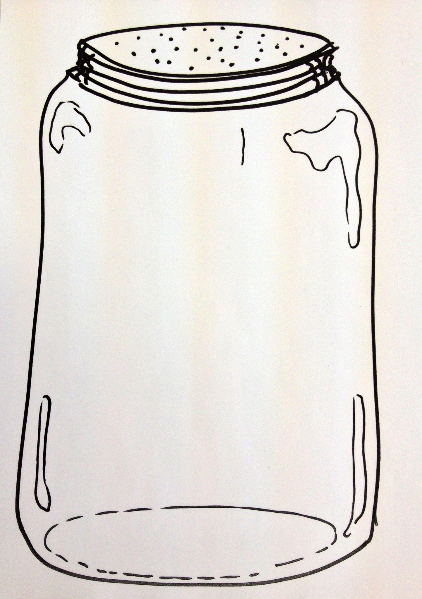 My Take On The Fingerprint Bug Jar Preschool Art