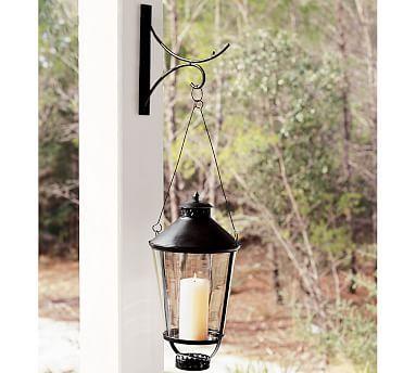 Wall-Mounted Lantern Scroll Hook | Home | Pinterest | Wall mount ...