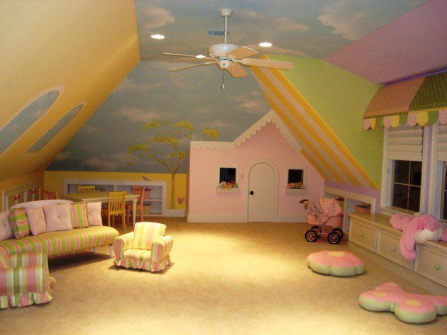 20 Comfortable Attic Playroom Design Ideas | Attic playroom ...