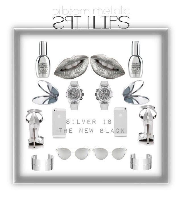 """""""Silver is the new black"""" by ana-noel-texeira on Polyvore featuring beauty, Miss Selfridge, HUBLOT, Dinh Van, Chicnova Fashion and metalliclips"""
