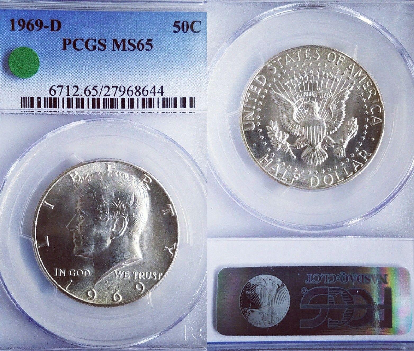 Free Shipping 1976-S Silver Kennedy Bicentennial Half Dollar PCGS MS65