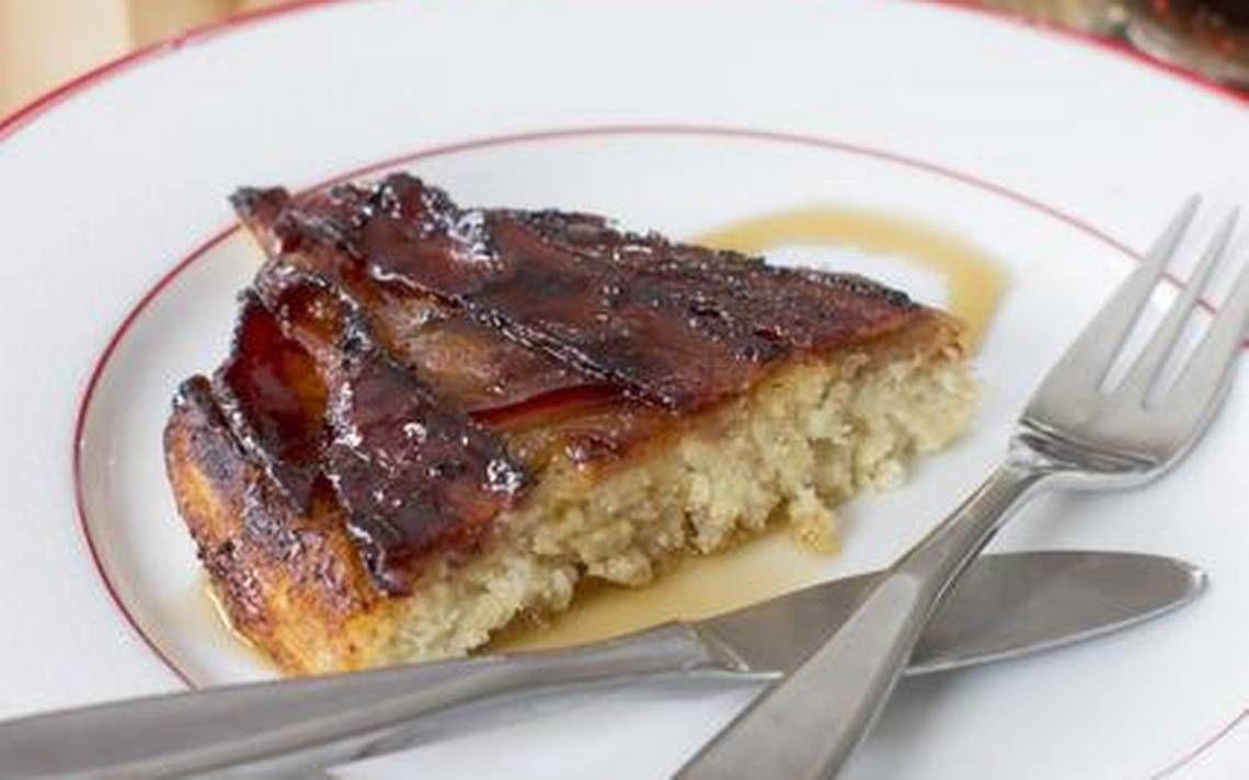 Bacon apple baked pancake