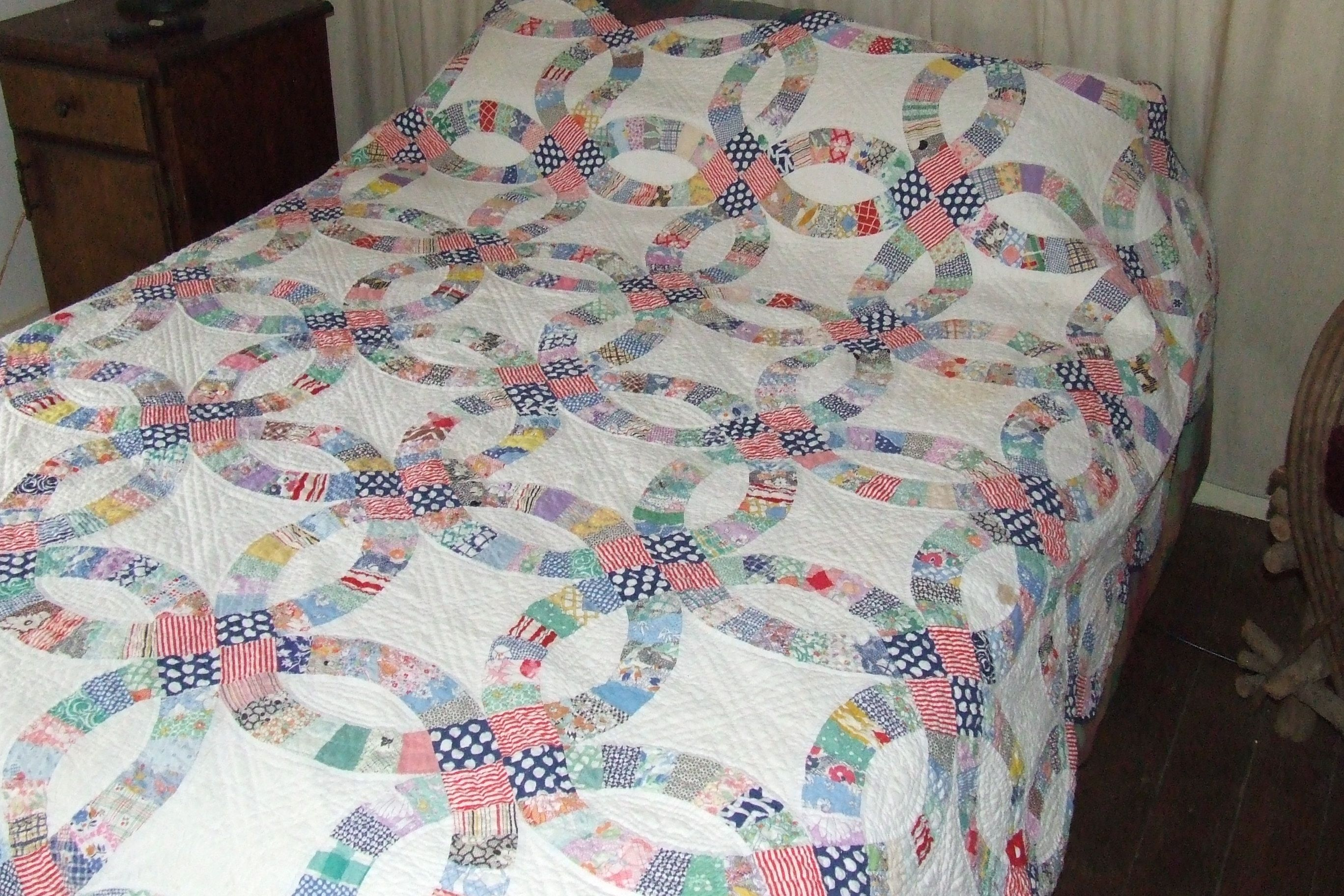 Amish Wedding Ring Quilt Double Wedding Ring Quilt For Sale