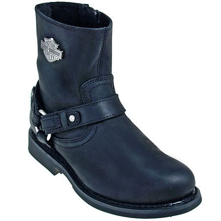 76c1c5b0cd3 Harley Davidson Boots 95262 Men's Black Scout 7-Inch Harness ...