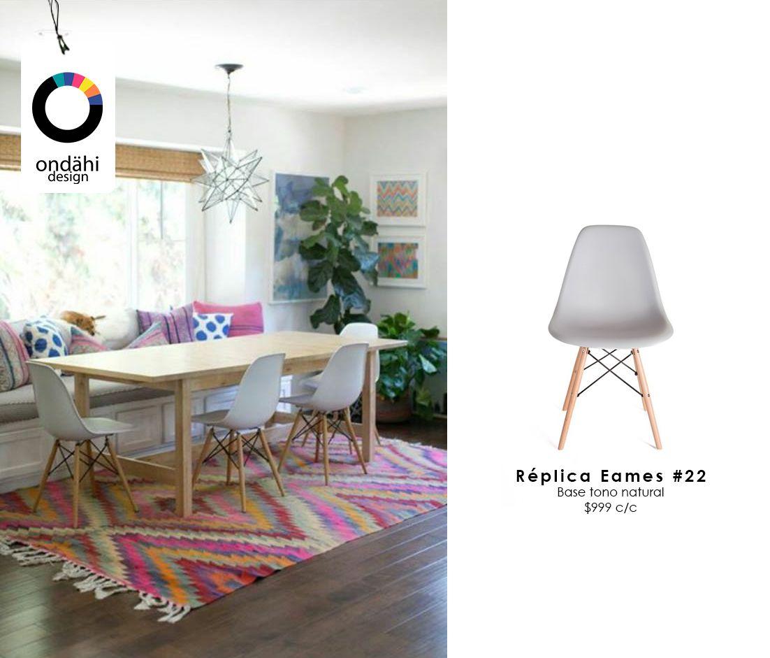 Experimenta el diseño desde tu hogar Silla Eames C&R #22 Blanca con Base Natural  $999 c/u #DisfrutadelDiseño #Ondahi goo.gl/ImCxsq