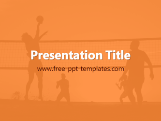 Beach volleyball powerpoint template is a orange template with beach volleyball powerpoint template is a orange template with appropriate background image which you can use to make an elegant and professional ppt toneelgroepblik