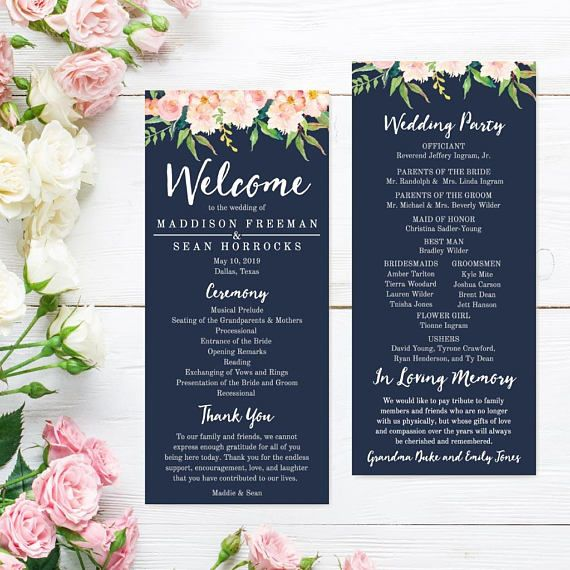 Wedding Program Thank You Messages Wedding Programs Online Template