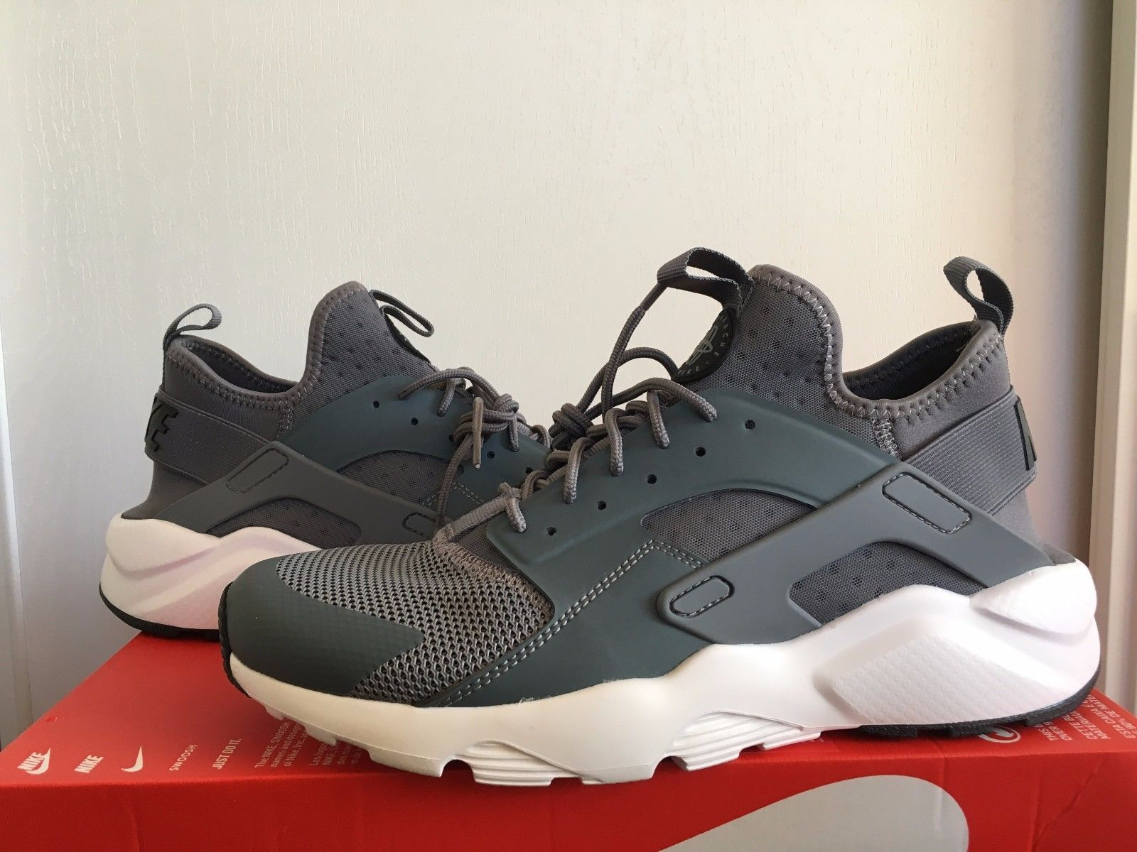 fec7193905dd Nike Air Huarache Run Ultra Cool Grey Black-White 819685-011 Men s size 10