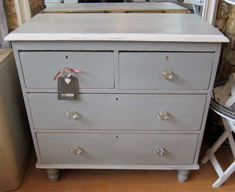 Paris Grey Annie Sloan Painted Victorian Pine Chest Of Drawers | Ideas |  Pinterest | Pine Chests, Annie Sloan Paints And Paris Grey