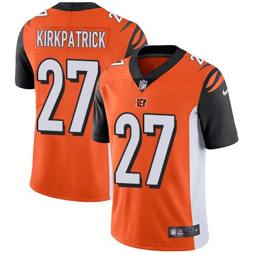 best loved 9ece8 bab16 Nike Bengals #27 Dre Kirkpatrick Orange Alternate Men's ...
