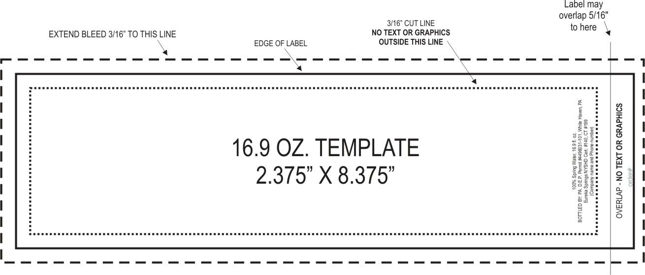 Label Template templates for 8 oz and 12 oz bottle labels in JPG – Water Bottle Label Template