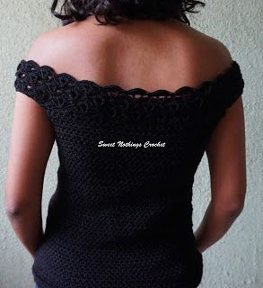 998028f5c04df Sweet Nothings Crochet UNIQUE SHELLED OFF-THE-SHOULDER TOP