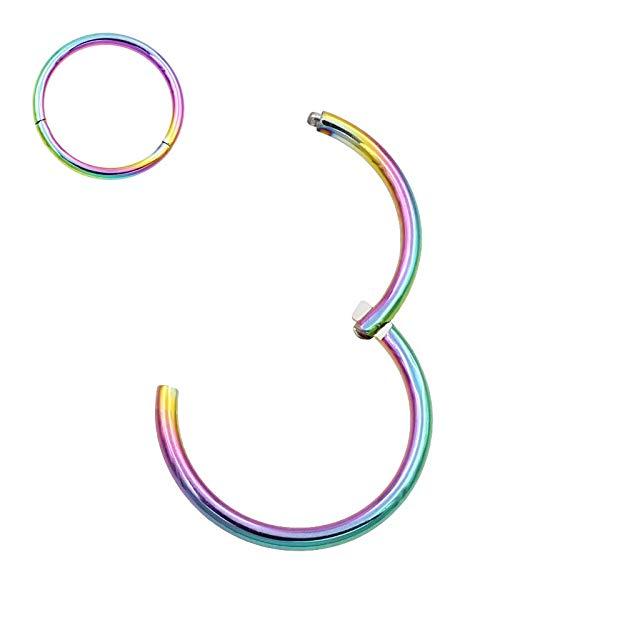 Amazon Com Fansing 8mm Septum Ring Nose Rings Hoop Nose Ring 20 Gauge Nose Hoop Helix Earrings Dai Nose Rings Hoop Nose Piercing Jewelry Body Piercing Jewelry