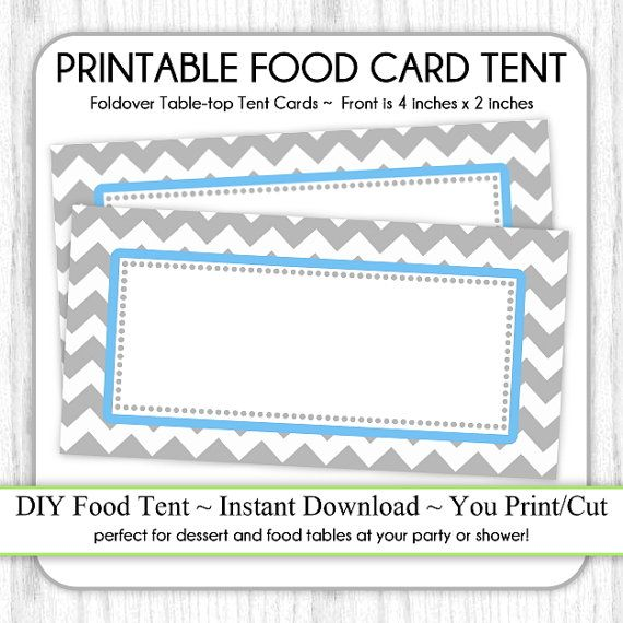 table top tent cards