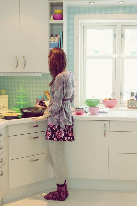 Lovely green tiles for the kitchen