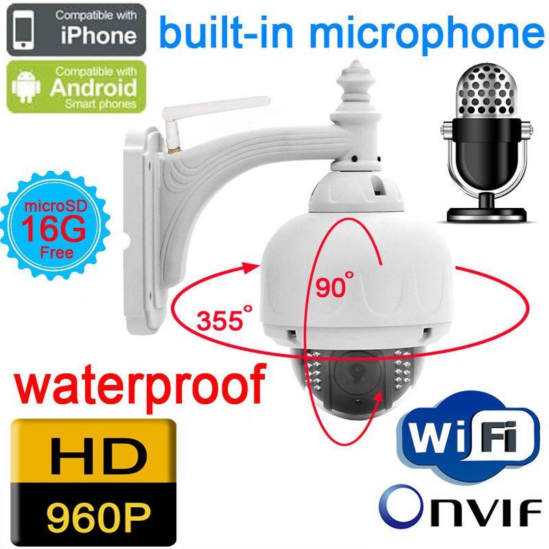 Cctv Ip Camera 960p 1 3mp Audio Wireless Outdoor Ptz Speed Dome Wifi Waterproof Onvif Nvr Home Security Home Security Systems Ip Camera Security Camera System