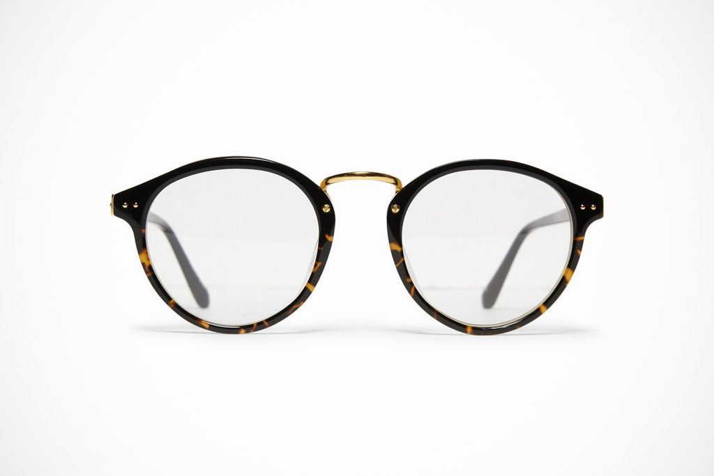Linda Farrow Luxe Round Frame Optical Glasses | Optical glasses ...
