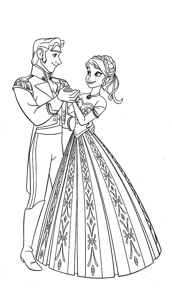 Prince Hans Dance With Princess Anna Coloring Pages Coloring Sun Prince Hans Coloring Pages Princess Anna