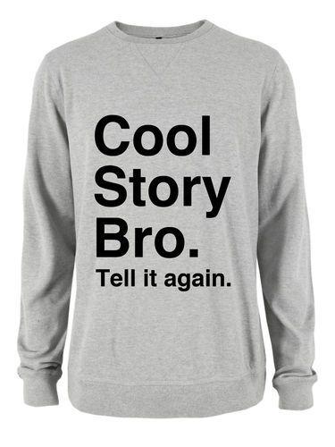 cool story bro tell it again mens ofwgkta womens sweater jumper
