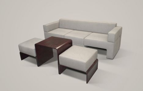 Awesome Slot Sofa: Compact Modular Couch Contains Table U0026 Chairs Amazing Design